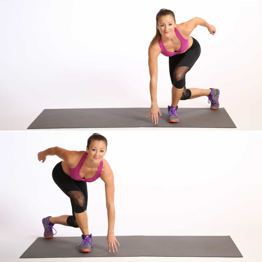 Speed skaters exercise at home