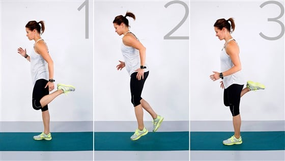 butt kick exercise at home